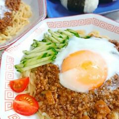 肉味噌/手作りごはん/お昼ごはん/ジャージャー麺/おうちごはん/ランチ 今日のお昼ごはんです😃