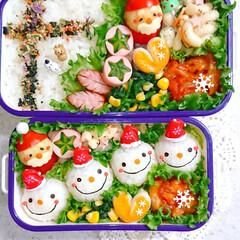 手作り弁当/りんご飾り切り/スノーマン/スノーマン弁当/クリスマス弁当/クリスマス/... スノーマンで本日のお弁当です❤️(2枚目)