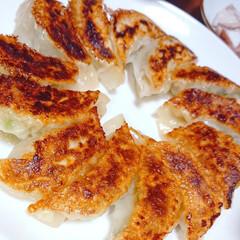 餃子/お酒がすすむ/お酒好き/ニンニク料理/キムチ/海鮮ユッケ/... 本日の夜ご飯です❤️ 手作り餃子 海鮮ユ…(1枚目)