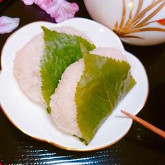 手作りお菓子/手作り和菓子/和菓子/おうちカフェ/桜餅/こどもの日 こどもの日に柏餅じゃなく 桜餅作りました…(3枚目)