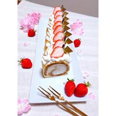 飾り切り/りんご/卒業式/ロールケーキ/ティラミス風 2/29娘の卒業式でした🌸 ティラミスロ…