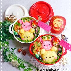 飾り切り/りんご/女子高生弁当/娘弁当/クリスマス2019/セリア/... 今日の娘弁当です🥰 今日でお弁当最後なの…