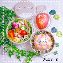 夏弁当/手作り弁当/お昼ごはん/お弁当/娘弁当 今日の娘弁当です😃