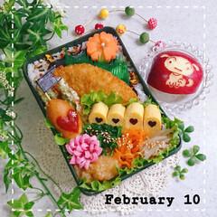 アメリカンドッグ/のり弁/高校生男子弁当/息子弁当/お弁当/バレンタイン2020 今日の息子のお弁当です😃