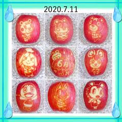 飾り切り/りんご飾り切り りんご飾り切りのまとめです😃(1枚目)