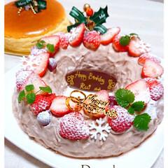 クリスマスケーキ/誕生日ケーキ/スフレチーズケーキ/チーズケーキ/チョコケーキ/チョコムースケーキ/... 12/25息子の誕生日に クリスマス&誕…