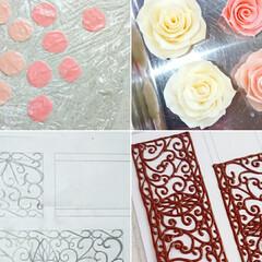 バラチョコ/薔薇チョコ/チョコ薔薇/プラチョコ/チョコ細工/手作りケーキ/... 明けましておめでとうございます🎍 202…(6枚目)