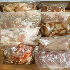 食べ物/暮らし/マリネ/準備/肉/備え/... 自粛を実行する為。 毎日買い物行かないよ…