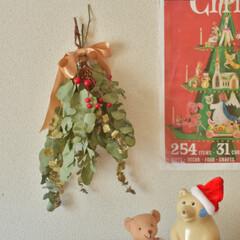 しろくま貯金箱/賃貸インテリア/クリスマス飾り/冬支度/クリスマスインテリア/スワッグ/... こちらはお久しぶりになってしまいましたσ…