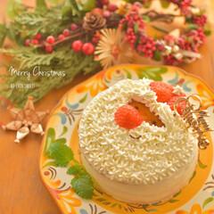 いちごケーキ/サンタさん/クリスマス/キャラケーキ/おうちケーキ/ケーキ作り/... クリスマスケーキつくりました☆ 今年はい…