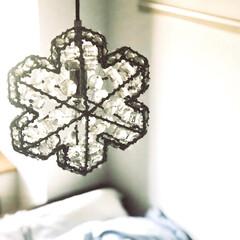スキー/賃貸インテリア/転勤族/インテリア/雪の結晶/雪/... 寝室の照明は スキー好きの我が家にぴった…