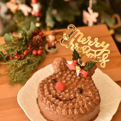 LIMIA手作りし隊/おうちカフェ/おうちごはん/LIMIAごはんクラブ/ケーキ作り/おうちケーキ/... 友人宅でのクリスマスパーティーに トナカ…