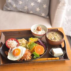 おうちカフェ/和んぷれーと/和食/ごはん/住まい/暮らし/... いつかの豚キムチのワンプレートごはん。