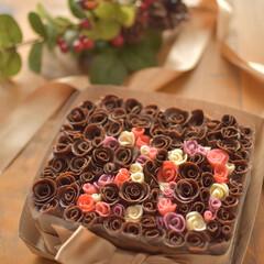 キャラケーキ/おうちカフェ/LIMIA手作りし隊/チョコレート/デコレーション/ケーキ/... バレンタイン用ではないのですがチョコケー…