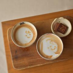 コーヒー/ラテアート/エスプレッソマシン/おうちラテ/カフェラテ/おうちごはん なかなか上手く出来ないけれど エスプレッ…
