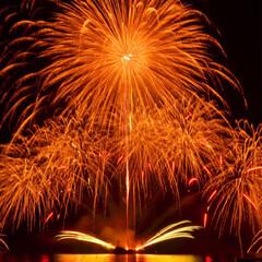 夏休み/旅行/キャンプ/花火大会/花火/一眼レフ/... 淡路島で花火大会を見てきました♪ とって…