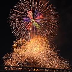 花火/花火大会/写真/一眼レフ/写真好き/雨季ウキフォト投稿キャンペーン/... 去年の花火大会。  いい場所がとれて 大…