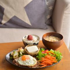 カフェ風ごはん/おうちカフェ/フォロー大歓迎/LIMIAファンクラブ/至福のひととき/LIMIAごはんクラブ/... いつかのお昼ごはん、 ポークソテーのワン…