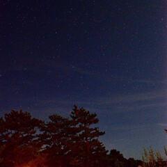 一眼レフ/絶景/夏休み/アウトドア/キャンプ/星空/... お盆休みのキャンプ、 星空写真の別バージ…