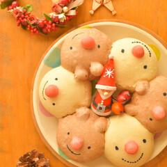 LIMIA手作りし隊/リースパン/ちぎりパン/おうちパン/クリスマスイブ/おうちカフェ/... クリスマスごはん用に トナカイさんとスノ…