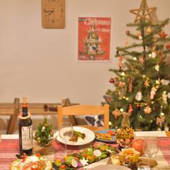 手作りカレー/クリスマスパーティー/二人暮らし/クリスマスディナー/クリスマスごはん/LIMIAごはんクラブ/... クリスマスの晩ごはん、 少しだけ特別メニ…