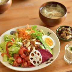 おうちカフェごっこ/お昼ごはん/野菜たっぷり/野菜好き/タコライス/サラダごはん/... ある日のおひるごはんに サラダごはん風の…(1枚目)