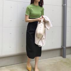 仕事/DHOLIC/ootd/ファッション お仕事コーデ  袖のフリルが小さいながら…