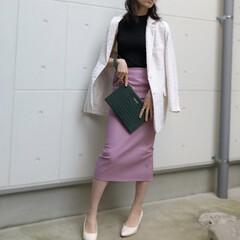 ootd/fashion/birthdaybash/ファッション バッグとスカート、パンプスは光沢あるもの…