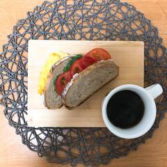 モーニング/あさごはん/パン/サンドウィッチ/おうちごはん/暮らし 朝ごはんの記録  ♡卵のサンド  卵はマ…