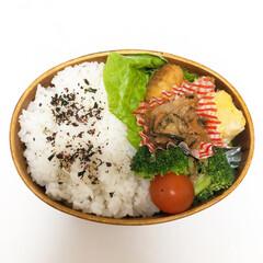 ナガオ 木の器 曲げわっぱ 一段弁当箱 漆 FH01(弁当箱)を使ったクチコミ「お弁当の記録  チャプテェ ブロッコリー…」