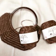エコアンダリア/手編み/麻紐バッグ/かぎ針編み/かぎ針編み認定講師/フォロー大歓迎/...  はじめましてのエコアンダリア編みあみが…