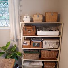 雑貨だいすき/バスケット/カゴ/古道具/古道具のある暮らし/アンティーク/... カゴやバスケットが好きです。💛古い味のあ…