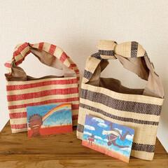 エスニック/バッグ/アフリカン/アジアン/雑貨 涼しげな ラフィアのバッグ ほのかな香り…