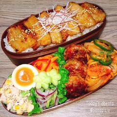 おひるごはん/男子弁当/ボリューム満点/焼肉丼/わっぱ弁当/曲げわっぱ/... 今日・・・も‼️がっつり焼肉丼弁当➰✨ …