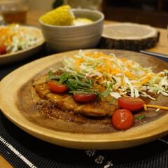 料理レシピ/レシピ/豚肉/トマト/大葉/ミニトマト/... 豚ロースのトマト照り焼き  **材料**…