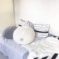 ベッドルームインテリア/ベッドルーム/寝室インテリア/インテリア/寝室/お買い得/... 英字のクッションカバー\♡︎/︎ 楽天…