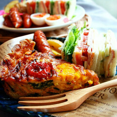 隠し味/マヨネーズ/トマト/トウモロコシ/料理好き/家庭料理/... 夏野菜たっぷりキッシュ♡♡ いつものほう…