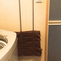 タオル収納/はじめてフォト投稿/収納/DIY/住まい ホームセンターで購入した、【バスタオルハ…