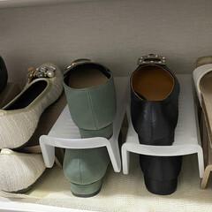 ダイソー/収納アイデア/収納グッズ/シューズ収納/シューズインクローゼット/シューズクローク/... ついつい増えがちな靴… 収納に困る事あり…(2枚目)