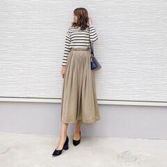 参観日コーデ/ママコーデ/しまむらバッグ/ザラ/ザラジョ/ZARA/... 今日の1枚♡サテンスカート♡  skir…