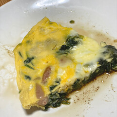 KIRKLAND SIGNATURE ピュアオリーブオイル5.4Kg(オリーブオイル)を使ったクチコミ「♡今日の晩ご飯♡  副菜は簡単オムレツ♥…」