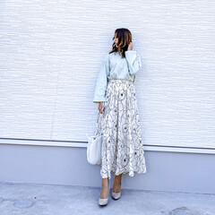 coca/花柄スカート/コカ/スカートコーデ/キレイめコーデ/ミモレ丈スカート/... 今日の1枚♡coca・花柄スカート♡  …