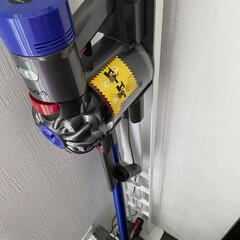 クリーナースタンド 掃除機スタンド 収納 コードレスクリーナースタンド プレート Plate ホワイト 03559(掃除機部品、アクセサリー)を使ったクチコミ「♡掃除機収納♡  我が家では、ダイソンを…」
