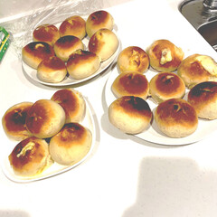 サフ インスタントドライイースト / 500g TOMIZ/cuoca(イースト、酵母)を使ったクチコミ「♡おうちごぱん♡  子供達も大好きなチー…」