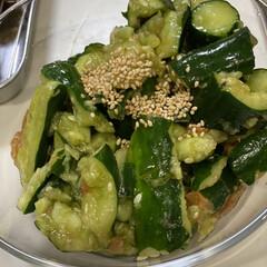 ヤマサ 昆布ぽん酢 360ml(その他醤油)を使ったクチコミ「♡夏の副菜♡  たたききゅうりと梅のさっ…」