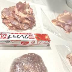 NEWクレラップ レギュラー 50m 30cm×50m(その他調理用具)を使ったクチコミ「♡まとめ買いお肉♡  今日は業務スーパー…」