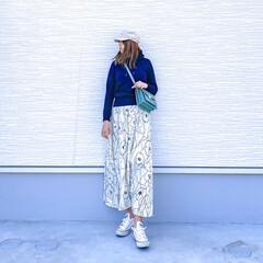 coca/コカ/花柄スカート/大柄スカート/スカートコーデ/大人カジュアル/... 今日の1枚♡coca・花柄スカート♡  …