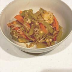 金印 純性ごま油 200g(ごま油)を使ったクチコミ「♡今日の晩ご飯♡  副菜は厚揚げの野菜あ…」