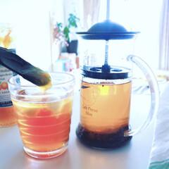 さっぱり/紅茶/おうちカフェ/朝/朝時間/ジャム/... . . ジメジメして気分も落ちがちな梅雨…