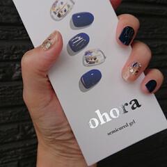 ohora/オホーラネイル/アラフォー/アラフォー主婦/アラフォーママ/ママコーデ/... ネイル💅チェンジしました❗ 今、はまって…(2枚目)